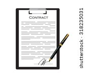business contract with... | Shutterstock .eps vector #318235031