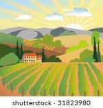 summer solar rural landscape... | Shutterstock .eps vector #31823980