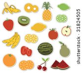 collection of fruit stickers...