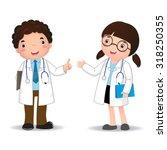 illustration of profession's... | Shutterstock .eps vector #318250355