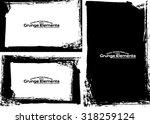 grunge frame texture set  ... | Shutterstock .eps vector #318259124