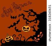 illustration of halloween. tree ... | Shutterstock .eps vector #318260651