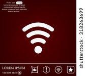 wi fi  web icon. vector design | Shutterstock .eps vector #318263699