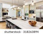 kitchen interior in new luxury... | Shutterstock . vector #318263894