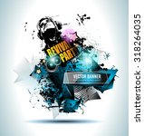 disco club flyer template for... | Shutterstock .eps vector #318264035