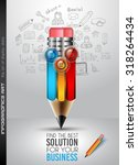 clean infographic layout... | Shutterstock .eps vector #318264434