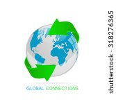 global connections illustration | Shutterstock .eps vector #318276365