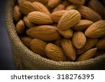 Small photo of Almond in Sack Background