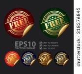 vector   metallic free... | Shutterstock .eps vector #318276845