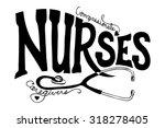 nurses graphic art illustration ... | Shutterstock .eps vector #318278405