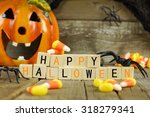 Happy halloween wooden blocks...