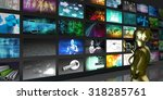collection of images forming... | Shutterstock . vector #318285761