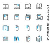 book icons | Shutterstock .eps vector #318286715