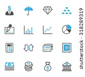 business and finance icons | Shutterstock .eps vector #318289319
