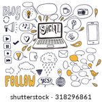 the social media background.... | Shutterstock .eps vector #318296861