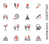 party icons and celebration... | Shutterstock .eps vector #318297365