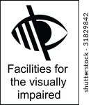 visually impaired facilities... | Shutterstock . vector #31829842