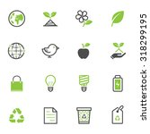 ecology icons | Shutterstock .eps vector #318299195