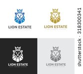 lion logo king logo elements... | Shutterstock .eps vector #318300341
