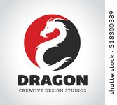 dragon logo  business card... | Shutterstock .eps vector #318300389