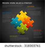 vector company core values  ... | Shutterstock .eps vector #318303761