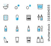 pharmacy and medical icons | Shutterstock .eps vector #318304055