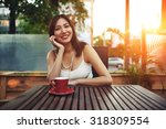 portrait of a gorgeous happy... | Shutterstock . vector #318309554