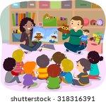 stickman illustration of school ... | Shutterstock .eps vector #318316391