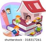 Illustration Of Kids Reading...