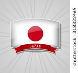 japanese bulged badge or icon... | Shutterstock .eps vector #318322469