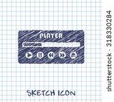 player ui vector sketch icon