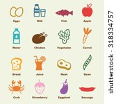 healthy food elements  vector... | Shutterstock .eps vector #318334757