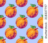 seamless pattern apricot.... | Shutterstock .eps vector #318337757