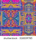 seamless bohemian pattern.... | Shutterstock . vector #318339785