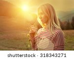 happiness woman stay outdoor... | Shutterstock . vector #318343271
