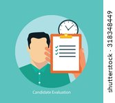 job candidate assessment | Shutterstock .eps vector #318348449