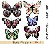 collection of vector realistic... | Shutterstock .eps vector #318352085