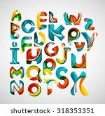 collection of alphabet letters... | Shutterstock . vector #318353351