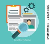 job candidate selection concept ... | Shutterstock .eps vector #318356801
