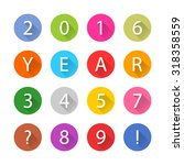 new year 2016 white title text. ... | Shutterstock .eps vector #318358559