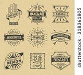 grunge hipster retro design... | Shutterstock .eps vector #318361805