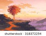 Landscape Painting Of Melting...