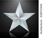 silver five pointed star | Shutterstock .eps vector #318372434