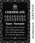 certificate template. golden... | Shutterstock .eps vector #318374105
