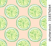 seamless pattern lemon. vector... | Shutterstock .eps vector #318376064