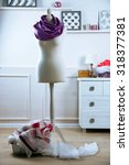mannequin with cloth in room | Shutterstock . vector #318377381