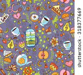 seamless vector pattern with... | Shutterstock .eps vector #318377669