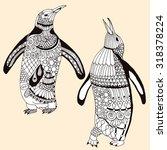 Penguin Pair Illustration  ...