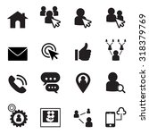 social network icon set | Shutterstock .eps vector #318379769