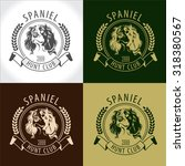 set spaniel  logos  labels and... | Shutterstock .eps vector #318380567